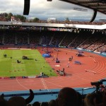 Hampden and the athletics - the day it did not pour!
